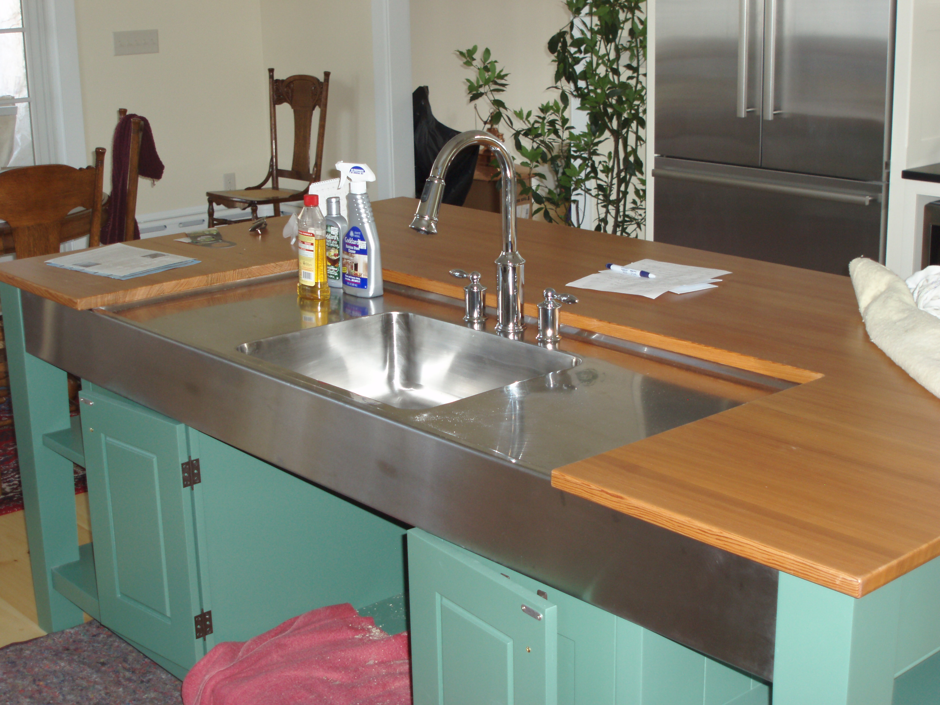 Custom, stainless, sink