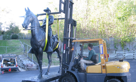 Repairs to Historic Statue