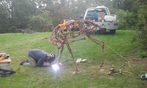 Custom, welded, animal