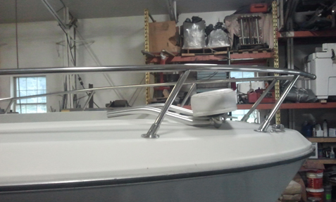bow, rails, stainless