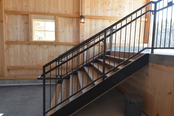 Exterior stairs and railings, Maine Beer Company, Freeport ME