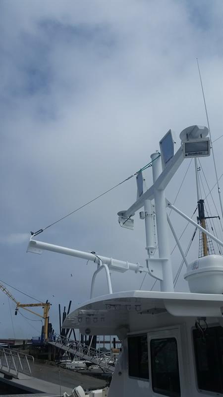 Mast and Boom on a Tuna Boat